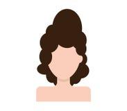 Icône de fille Image stock