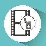 Icône de film de bande de caméra vidéo de film Photos stock