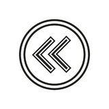 Icône de flèches gauches Images stock