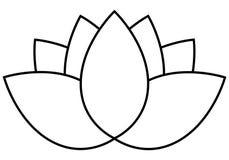 Icône de fleur de Lotus Photos libres de droits