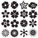 Icône de fleur ou ensemble de signe Éléments de conception de vecteur Photographie stock libre de droits