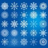 Icône de flocon de neige réglée - illustration Images stock