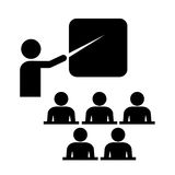 Icône de formation de vecteur Images libres de droits