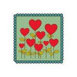 icône de forme de ballons d'arbres d'emblème Photos stock