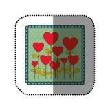 icône de forme de ballons d'arbres d'emblème Images stock