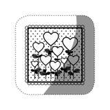 icône de forme de ballons d'arbres de symbole Photographie stock