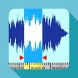 Icône de fréquence de musique, style plat illustration de vecteur