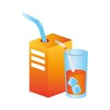 Icône de fruit de jus d'orange Image libre de droits