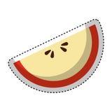 icône de fruit de pomme Delicious Photo stock