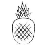 Icône de fruit frais d'ananas illustration libre de droits
