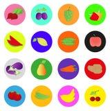 Icône de fruits et légumes Photographie stock libre de droits