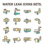 Icône de fuite de l'eau illustration libre de droits