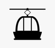 Icône de funiculaire sur un fond blanc illustration stock