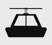 Icône de funiculaire sur un fond blanc illustration libre de droits