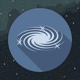 Icône de galaxie de manière laiteuse de vecteur de Digital avec des étoiles Photos libres de droits