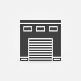Icône de garage de voiture Image stock
