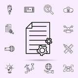 ic?ne de gestion de contenu Ensemble universel de m?lange de Web pour la conception de site Web et le d?veloppement, d?veloppemen illustration stock