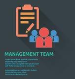 Icône de gestion des projets, icône d'équipe de gestion Images stock