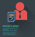 Icône de gestion des projets, icône de fiche de projet Images stock