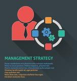 Icône de gestion des projets, icône de stratégie de gestion Photo stock