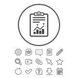 Icône de gestion des projets Rapportez la cote du document illustration de vecteur
