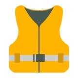 Icône de gilet de sauvetage Équipement de tourisme Élément de Web de voyage de bateau Photos libres de droits