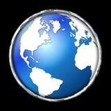 Icône de globe de bord de Chrome illustration stock