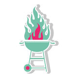 Icône de gril de barbecue Images stock