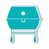 Icône de gril de barbecue Photos stock
