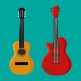 Icône de guitare, icône de guitare, icône eps10 de guitare Photo libre de droits