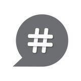Icône de Hashtags Photos libres de droits