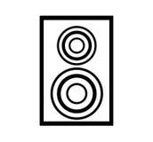 Icône de haut-parleur de home cinéma Photo stock