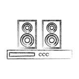 Icône de haut-parleur de home cinéma Image stock