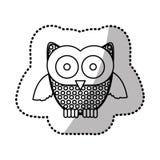 icône de hibou d'autocollant de découpe Photographie stock