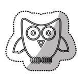 icône de hibou d'autocollant de silhouette Image stock