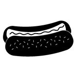 Icône de hot-dog Images libres de droits