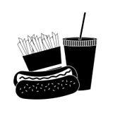 Icône de hot-dog Illustration Libre de Droits