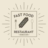 Icône de hot-dog Conception de menu et de nourriture Dessin de vecteur Image libre de droits