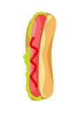 Icône de hot-dog dans l'appartement Image libre de droits