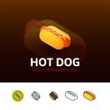 Icône de hot-dog dans le style différent Photos libres de droits