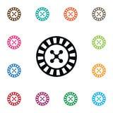 Icône de jeu d'isolement Lucky Vector Element Can Be a employé pour jouer, chanceux, concept de construction de roulette Photographie stock