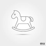 Icône de jouet de cheval de basculage Photo libre de droits