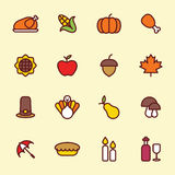 Icône de jour de thanksgiving Images stock
