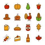 Icône de jour de thanksgiving Photos libres de droits