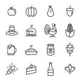 Icône de jour de thanksgiving Photos stock