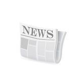 Icône de journal Vecteur Image stock