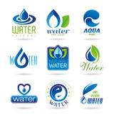 Icône de l'eau réglée - 2 Photo libre de droits