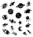 Icône de l'espace de silhouette Photographie stock libre de droits