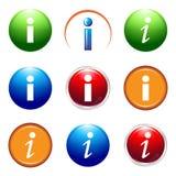 Icône de l'information Photographie stock libre de droits