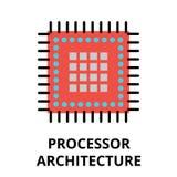 Icône de la future technologie - architecture de processeur Photographie stock libre de droits